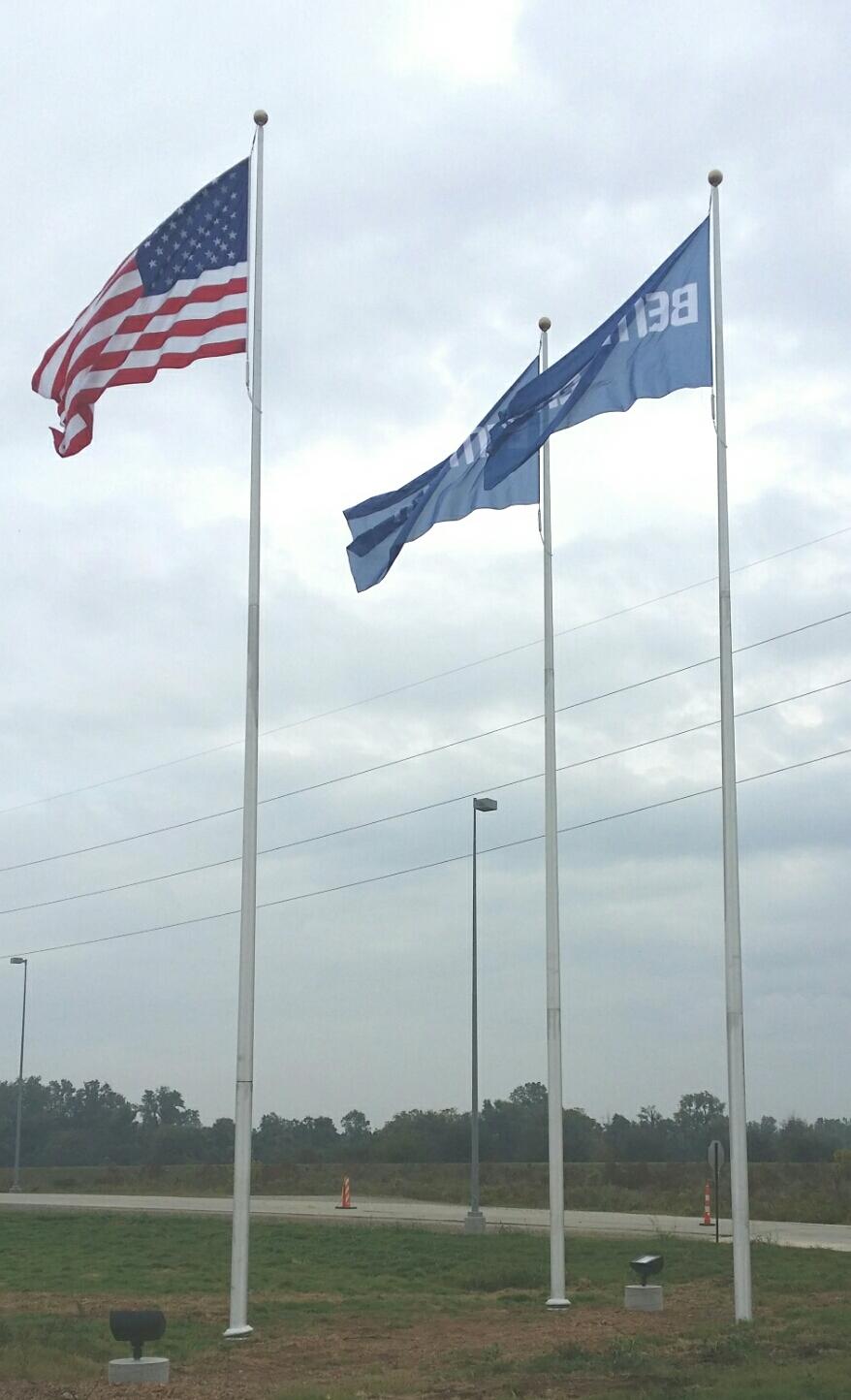 Independence Series Triple Flag Display