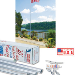 Patio Series Flagpoles | Sectional Flagpoles
