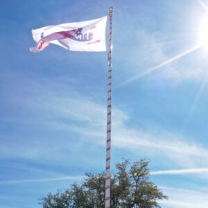 Wrapped Flagpoles
